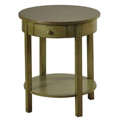 "24"" Green Round Accent Table - FFO Home"