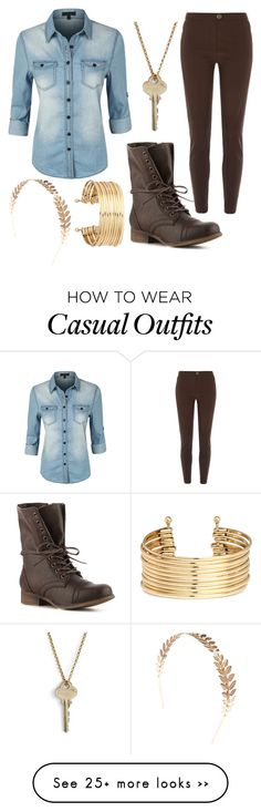 """""""Casual #52"""" by mjgurr on Polyvore featuring LE3NO, Madden Girl, River Island, The Giving Keys, Wet Seal and H&M"""
