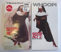 Sister Act 1 & 2 Back in the Habit VHS 1992 1994 Whoopi Goldberg PG Video Cassette Movie Film Comedy Comedies  Musical Music NTSC Lot #35E by AdriennesAtticStore on Etsy