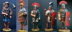 AVE CAESAR 5 HEROIC romans soldiers..set no C.....at 6cm..hand made..hand painted.. BUY THEM NOW!! ask me ..for the terms...at strategosathena@gmail.com... international service...0030 6957316614 athens........