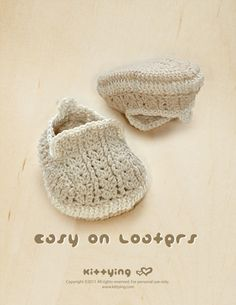 Khaki Easy On Loafers CROCHET baby shoes PATTERN - Christening moccasin socks baby booties crochet pattern by Kittying Crochet Pattern Crochet With Cotton Yarn, Crochet Bebe, Crochet Yarn, Hand Crochet, Crochet Baby Shoes, Crochet Baby Booties, Crochet Slippers, Crochet Booties Pattern, Lace Booties