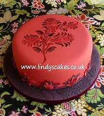 Stenciled cakes