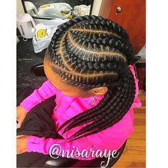teenage hairstyles for school Simple Feed In Braids Hairstyles, Braids Hairstyles Pictures, Twist Braid Hairstyles, Braided Hairstyles For Black Women, My Hairstyle, Girl Hairstyles, Teenage Hairstyles, Easy Hairstyles, Black Girl Braids