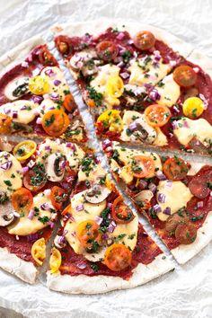 3 Ingredient Gluten Free Pizza Crust.- Buckwheat flour crust