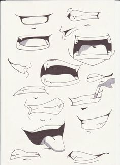 anime expressions mouth - Google Search