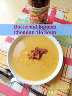 Butternut Squash Cheddar Ale Soup