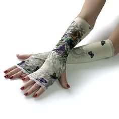 Butterfly Princess Fairy gloves mittens arm warmers by WearMeUp, $24.00