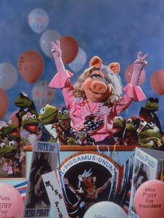 Miss Piggy for President Jim Henson, The Muppets Characters, Miss Piggy Muppets, Fraggle Rock, The Muppet Show, Kermit The Frog, This Little Piggy, Famous Cartoons, Disney Magic
