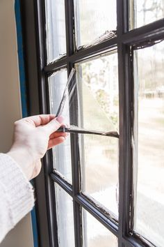 The Best Trick for Painting French Doors | blesserhouse-com - A quick tip for painting French doors without scraping, taping, or splotchy peeling paint. This trick saves SO much time and looks amazing like a factory finish! #paintingtips #diytips #frenchdoors
