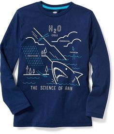 Love this t-shirt with the big shark + ocean and meteo graphics!  #ad