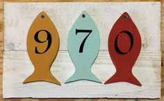 Custom house number sign Wood house numbers by BeachWallDecor