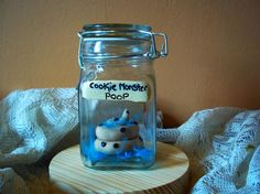 Hey, I found this really awesome Etsy listing at https://www.etsy.com/listing/157105454/cookie-monster-poop-in-a-jar-specimen