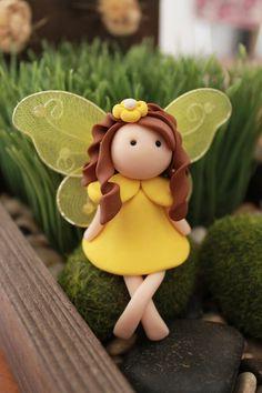 Fairy - Polymer Clay - Terrarium Accessory - Fairy Garden - Miniature Garden - Accent - Made to Order