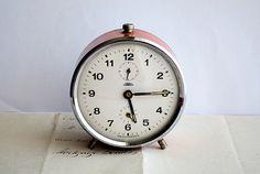 Vintage Prim Alarm Clock by honeyandsea on Etsy