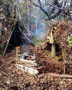 #bushcraft #camps #fire