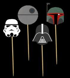 Star Wars Party Picks / Set Of 24 / Cupcake Toppers /Birthday Party Picks / Baby Showers / Birthday Party / Food Picks