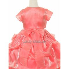 Pick Up Square Floor Length Organza Red Flower Girl Dress Bfpp0001