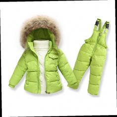 44.19$  Watch now - http://alixdc.worldwells.pw/go.php?t=32702144412 - 2016 new infant boys Snowsuit baby wear, winter faux fur collar hooded overalls toddler girls down thermal jacket outwear