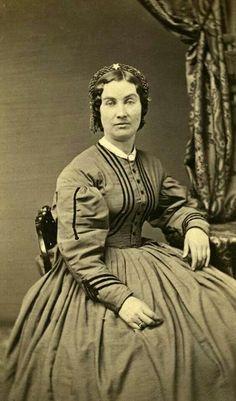 Mrs. John Wheeler, wife of Lieutenant  John B wheeler, 13th Kansas Infantry. CDV by A. Addis, Leavenworth, KS.