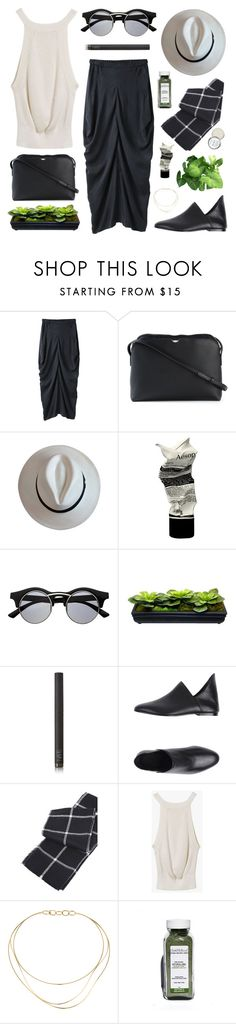 """""""black and white and green"""" by jesicacecillia ❤ liked on Polyvore featuring Zero + Maria Cornejo, The Row, Aesop, Retrò, NARS Cosmetics, DAMIR DOMA, Tiffany & Co. and Herbivore"""