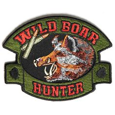 Embroidered Deer Hunter Hunting Sew or Iron on Patch Biker Patch