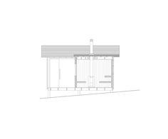 ERMITAGE Cabane en bois auto-construite au milieu des pins sur l'île de Trossö en Suède. Un sauna, une chambre où deux fenêtres encadrent un paysage puissant et poétique : la mer d'un côté, la forêt de l'autre. Une grande porte coulissante permet ...