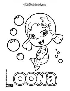 Oona Character From Bubble Guppies Coloring Page Printable Game