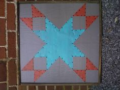 This barn quilt square by Steel Quilt Co. is on MY House now!!