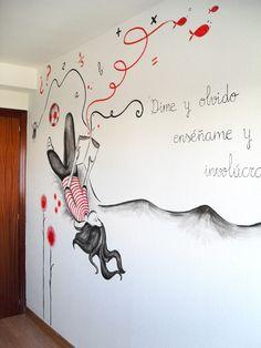 Mural en la pared realizado por Muralyart