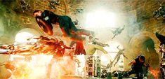 Avengers: Age of Ultron | This is how you superhero | gif: steebrogerz