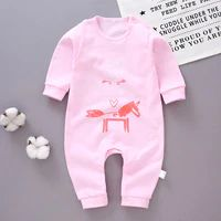Personalised Baby Girls Pink Spring Lamb All in One Sleepsuit 0-3 Months