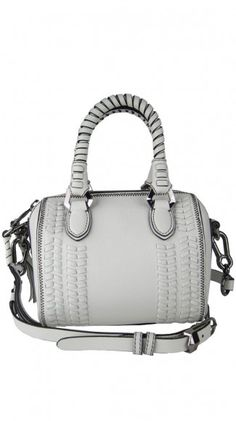 White leather tote with braid detail. Yummy!