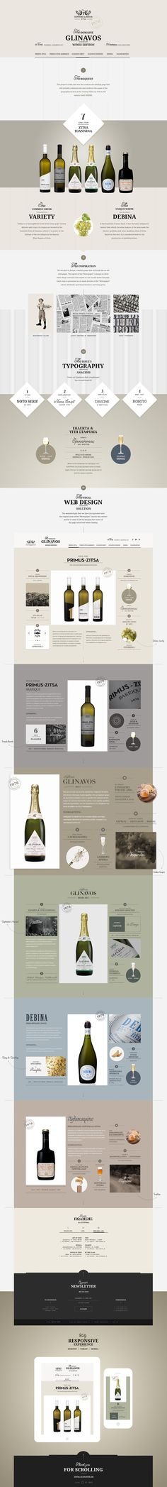 One scroll, landing page aiming at promoting 6 different wines of the Glinavos Winery, that share a common trait, none other than the DEBINA grape variety.Prime goal of the project was the creation of a webpage that will initially communicate and consol…