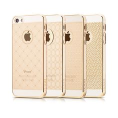 HOCO(TM) Ultra Slim Clear Golden iPhone Skin - Fashion Case for Your iPhone 5/5s (Circles):Amazon:Cell Phones & Accessories