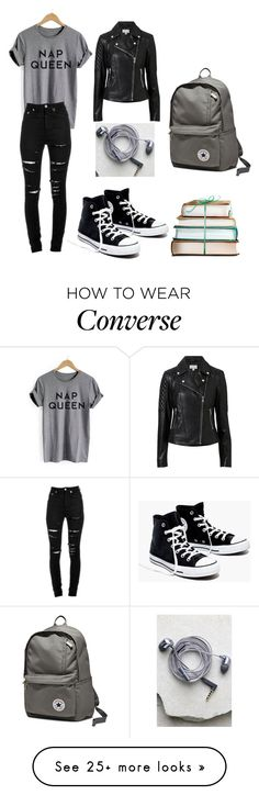 """Untitled #62"" by hnikus on Polyvore featuring Yves Saint Laurent, Madewell, Converse, Witchery and Happy Plugs"