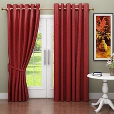 Homestory Geometric Eyelet Curtains Find Online At Low Prices Compare Curtain Price