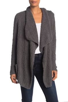 Image of Bobeau Boucle Popcorn Draped Button Cardigan|fashion|Fall Fashion| #fashion #fallfashion #afflink #giftsforher Casual Summer Outfits For Women, Winter Fashion Outfits, Look Fashion, Autumn Fashion, Fashion Women, Fashion Styles, Mom Outfits, Everyday Outfits, Chic Outfits