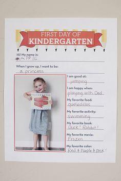 Mein erster Kindergartentag! -  Kurzer Steckbrief über den ersten Tag im Kindergarten