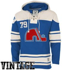Old Time Hockey Quebec Nordiques Lace Jersey Team Hoodie - Natural