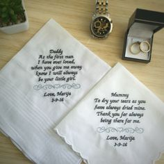 Wedding Gifts For Parents Handkerchief : bride gifts wedding gifts for parents gift for parents handkerchiefs ...