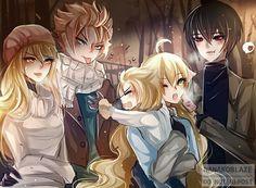 Natsu ve a su cuñada Mavis Zeref ve su cuñada Lucy Fairy Tail Love, Fairy Tail Manga, Fairy Tail Kids, Fairy Tail Gruvia, Image Fairy Tail, Fairy Tail Comics, Fairy Tail Funny, Fairy Tale Anime, Fairy Tail Family