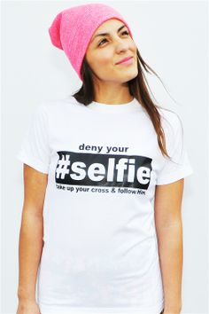 """Based on Luke 9:23 Then He said unto them all: """"Whoever wants to be my disciple must deny themselves and take up their cross and follow me"""" #selfie"""