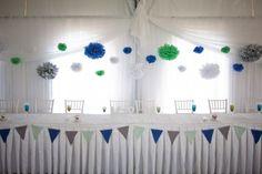 Lovely Blue & Green wedding