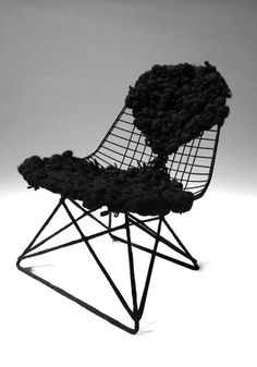 Eames wire chair and felt | Tania Aguiniga
