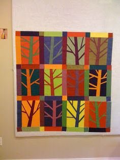 Karen's Sewing Room: Tree Quilt ---love the electric colours!
