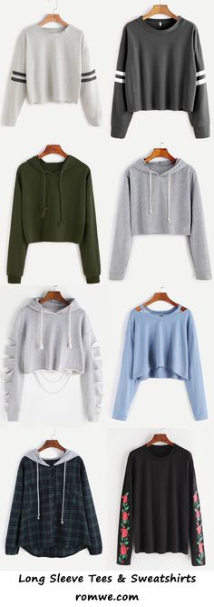 long sleeve tees & sweatshirts - romwe.com