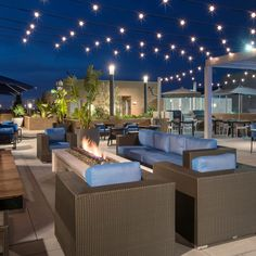Incredible Roof Top Sky Deck in Irvine Restaurant Seating, Bar Seating, Gable House, House Roof, Rooftop Terrace Design, Rooftop Gardens, Rooftop Deck, Deck Furniture, Outdoor Furniture Sets