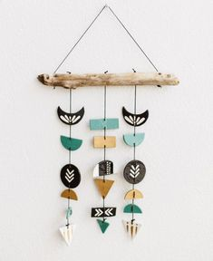 Mod Southwestern Wall Mobile, Kenya Mod Southwestern Wall Mobile, Kenya,Home Deco: Products I Adore African and southwestern design combine to create this colorful Pieced together from clay shapes, each hanging is. Clay Crafts For Kids, Diy And Crafts, Arts And Crafts, Resin Crafts, Fall Crafts, Christmas Crafts, Ceramic Art, Ceramic Pottery, Slab Pottery