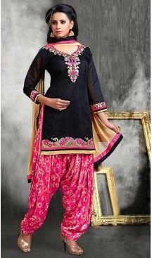 Black Color Chanderi Silk Straight Cut Readymade Punjabi Patiyala Suit   FH512878076 #punjabi , #patiyala, #shindhi, #suits, #narrow, #dresses, #salwar, #kameez, #straight, #long, #heenastyle, #indian, #online, #shopping, #clothing, #womens, #girls, #style, #mode, #henna, #hina, #mehendi, #dupatta, #chudidar, @heenastyle , #pakistani, #readymade