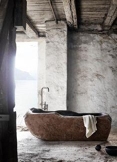 Wabi-Sabi Bathtub is designed by Kristine Bonnici Design Via - Wabi Sabi, Villa Design, Design Hotel, House Design, Design Room, Interior Design Inspiration, Decor Interior Design, Design Ideas, Daily Inspiration